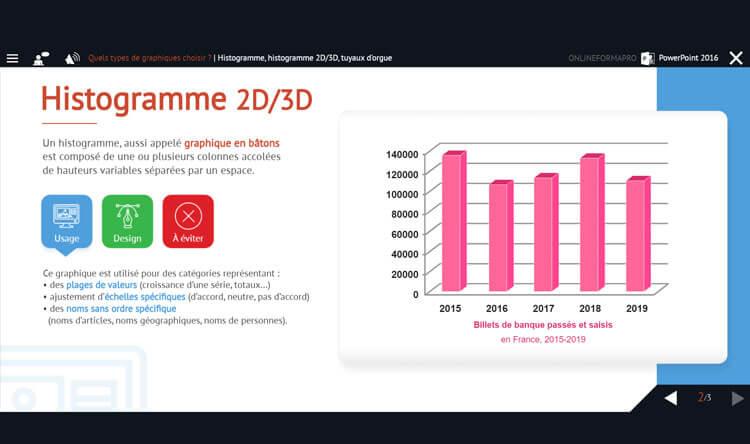 Capture d'écran du module PowerPoint 2016